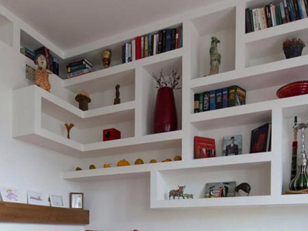 Opere in cartongesso brescia manerbio lavorazioni mobili librerie nicchie strutture in cartongesso - Mobili in cartongesso ...
